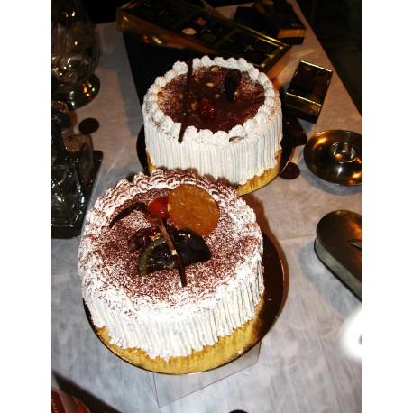 Desserts glacés : Les vacherins Chocolat - Mandarine